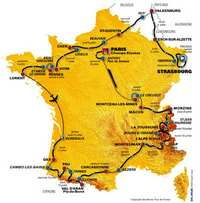Map of the Tour de France 2006