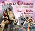 Chestnut festival announcement in Saint-Pons