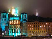 Photo of the illuminated city of Lyon