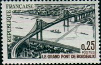 Stamp with picture of the bridge