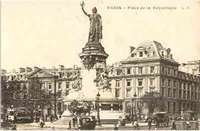 Old post card of the Place de la Republique
