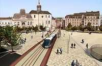 Artist impression of the tramway in Le Mans