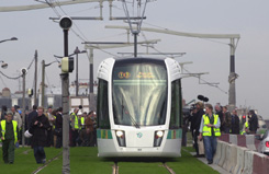 Picture of the first test drive by the municipality of Paris